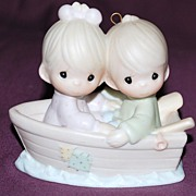 "Precious Moments Figurine ""Friends Never Drift Apart"""