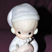 "Precious Moments Figurine ""Time To Wish You A Merry Christmas"""