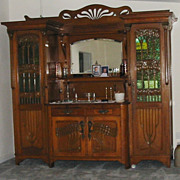 Art Deco Egyptiennerie Revival Buffet/Armoire/Bonnetiere