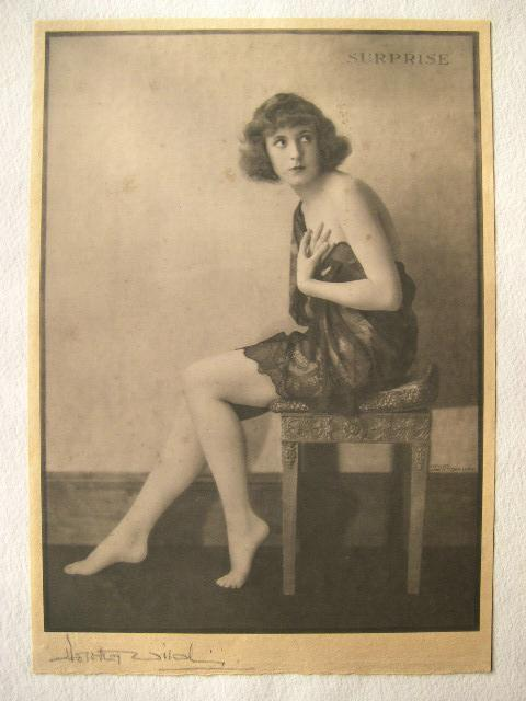 1920s Signed Dorothy Wilding Risque Photograph 'Surprise'