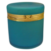 "Antique French Teal Opaline Casket Hinged Box  ""BIG"""