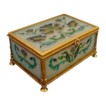 Antique French Art Glass Casket