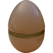SALE Giant Antique Pink Opaline Egg Box