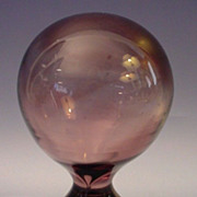 Antique French Purple Crystal Finial