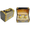 "Fabulous Antique French Dome Top Jeweled Scent Casket ""Twin Bottles"""