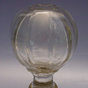 Antique French Cut Crystal Newel Post Boule D�escalier