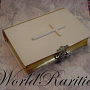"Antique French Dieppe Ivory Covered Missal or Prayer Book "" Cross on the Cover and Ornate"