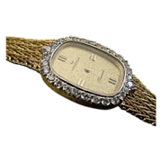 SALE Elegant Diamond 14 Karat Hamilton Watch
