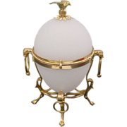 Magnificent Antique 10� French White Opaline Casket Hinged Box