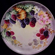 Haviland Limoges Charger Hand Painted Raspberries