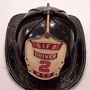 Vintage Leather Fireman's Hat Made by Chairns Green Island FD