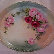 SALE T & V Limoges Dresser Tray Decorated with Hand Painted Roses