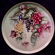SALE T&V Limoges Charger Hand Painted Grapes 16""