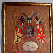 WW1 Memorial String Art on Rice Cloth US A T Thomas Transport Ship