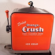 SOLD 1950's Orange Crush Fountain Head
