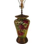 Vintage Limoges Lamp Hand Painted Roses