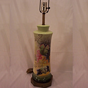 SALE Vintage Fabulous Limoges Lamp Hand Painted Grapes