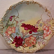 SALE T & V Limoges Tray Decorated with Hand Painted Roses