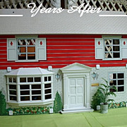 SOLD Two Story MARX Tin Litho DOLL HOUSE With 27 Pieces of Vintage FURNITURE Circa ...