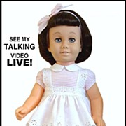 SOLD TALKING Vintage CHATTY CATHY Doll Original Peppermint Pink Dress, Pinafore, Shoes, Socks