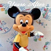 SALE Vintage MICKEY MOUSE Doll Walt Disney, Fully Jointed And SIGNED c.1960's!