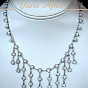 SOLD Exquisite ART DECO Necklace Rock Crystal STERLING Silver Setting All Original c.1920's!