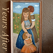 SALE Framed Oil PAINTING Women Mother Daughter Flowers TRANQUILITY Artist SIGNED Esther Melame