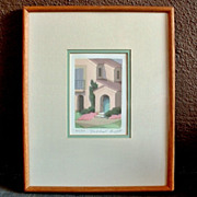 SALE Framed WILLIAM BUFFETT Artist Serigraph Silkscreen Print  SIGNED Numbered The Retreat!