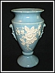 "Weller Blue ""Cameo Rose"" Tall Vase"