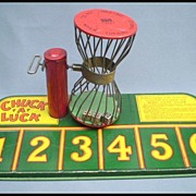 Chuck A Luck Tin Bird Cage Dice Game by J. Chein & Co. 1920-1930