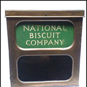 SALE Vintage National Biscuit Company Store Counter Display Tin
