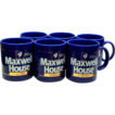 Maxwell House Coffee - Set of Six Cobalt Blue Advertising Mugs