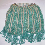 Turquoise Beaded Flapper Purse Bag Reticule