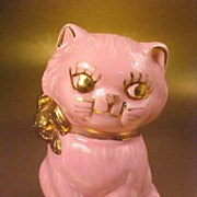 Vintage LePere Pink Kitty Piggy Bank