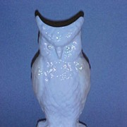 Belleek White Owl Vase