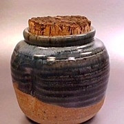 Ash Glaze Art Pottery Cache Pot