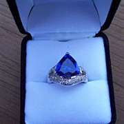 REDUCED Tanzanite and Diamond Ring