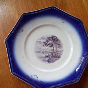 Blue and White Vintage Plate