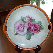 PK Unity - German Plate with Pink Roses