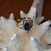 SALE Natural Ceylon Sapphire & Diamond Ring by JB Star