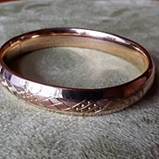 Gold Filled Vintage Carved Bangle