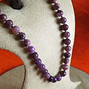 Natural Charoite Beaded Necklace