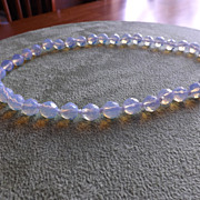 Natural Sri Lanka Faceted Moonstone Necklace