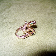 Jeweled Cobra Snake Ring - 15.77 Grams of 14 Karat Gold!