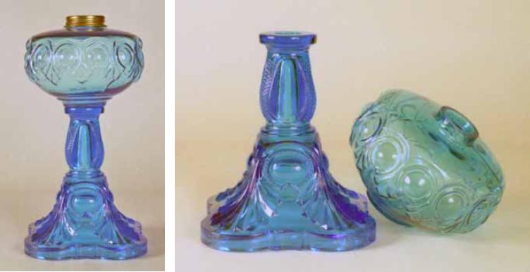 Kerosene glass lamps separating new from old