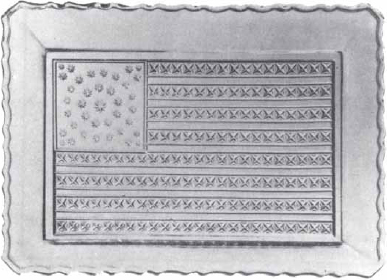American Flag Bread Platter