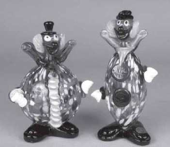 Venetian Glass Clowns Copied