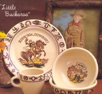 2 True West also makes a child-sized Western dinnerware marketed under the name \ Little Buckaroo.\  The children\u0027s pieces are marked Westward Ho Little ... & Cowboy China: Old Patterns Copied
