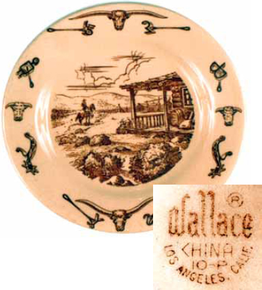 It is marked with the Wallace China backst& a company that was dissolved in 1964. Generally all vintage western dinnerware should have ...  sc 1 st  Real Or Repro & Cowboy China: Old Patterns Copied