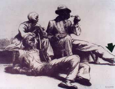 Imitation Charcoal Sketches  of Black Americans